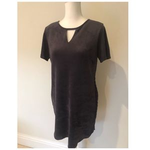 Mac and Me Keyhole Faux Suede Dress Large